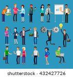 vector detailed characters... | Shutterstock .eps vector #432427726