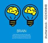 icon brain in a bulb | Shutterstock .eps vector #432434848