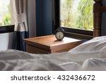 modern bedroom with alarm clock ... | Shutterstock . vector #432436672