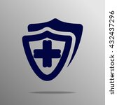 medical shield blue on a gray... | Shutterstock .eps vector #432437296