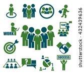 teamwork  meeting  seminar icon ... | Shutterstock .eps vector #432439636