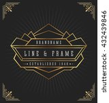 vintage art deco frame for... | Shutterstock .eps vector #432439846