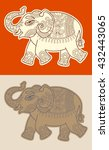 original stylized ethnic indian ... | Shutterstock . vector #432443065