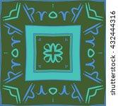circular  pattern of zodiac...   Shutterstock .eps vector #432444316