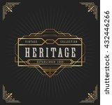 vintage art deco frame for... | Shutterstock .eps vector #432446266