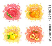 four stickers with different... | Shutterstock .eps vector #432448756