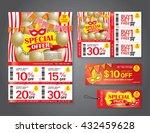 vector flyer  brochure ... | Shutterstock .eps vector #432459628