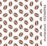 seamless pattern with coffee...   Shutterstock .eps vector #432460966