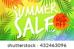 summer sale template poster ... | Shutterstock .eps vector #432463096