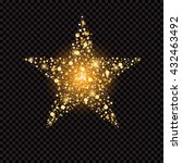 golden star with sparkles... | Shutterstock .eps vector #432463492