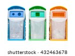 set of colorful recycle bins... | Shutterstock . vector #432463678