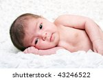 cute caucasian hispanic infant... | Shutterstock . vector #43246522