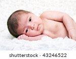 cute caucasian hispanic infant...   Shutterstock . vector #43246522