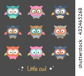 set of nice colorful little...   Shutterstock .eps vector #432465268