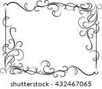 unusual  decorative lace... | Shutterstock .eps vector #432467065