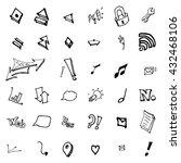 business doodles | Shutterstock .eps vector #432468106
