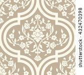 vector damask seamless pattern... | Shutterstock .eps vector #432470398