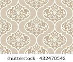 vector damask seamless pattern... | Shutterstock .eps vector #432470542