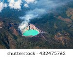 aerial photo of active volcano... | Shutterstock . vector #432475762