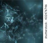 polygonal technology background.... | Shutterstock .eps vector #432476746
