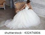 beautiful wedding dress. bride... | Shutterstock . vector #432476806