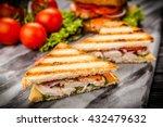 grilled chicken sandwich | Shutterstock . vector #432479632