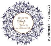 vintage delicate invitation... | Shutterstock .eps vector #432481126