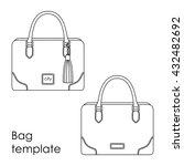 vector female bag line template ... | Shutterstock .eps vector #432482692