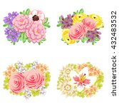 flower set | Shutterstock . vector #432483532