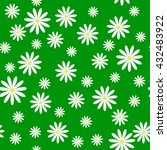Seamless Pattern With Daisies...