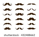 big set of mustaches... | Shutterstock .eps vector #432488662
