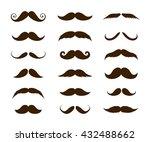 big set of mustaches... | Shutterstock .eps vector #432488662