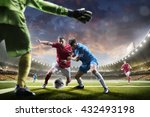 soccer players in action on... | Shutterstock . vector #432493198