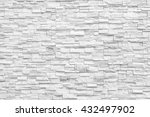 surface white wall of stone... | Shutterstock . vector #432497902