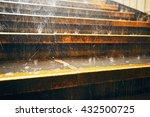heavy rain in the city. rain... | Shutterstock . vector #432500725