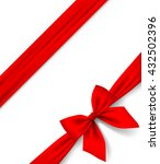 red ribbon and bow isolated on... | Shutterstock .eps vector #432502396