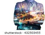 double exposure of businessman... | Shutterstock . vector #432503455