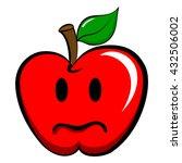 apple emoticon emoji. happy ... | Shutterstock .eps vector #432506002