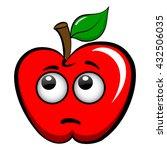 apple emoticon emoji icon flat...   Shutterstock .eps vector #432506035
