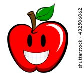 apple emoticon emoji icon flat... | Shutterstock .eps vector #432506062