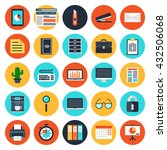office web icons. modern flat... | Shutterstock .eps vector #432506068