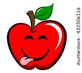 apple emoticon. happy   joyful... | Shutterstock .eps vector #432506116