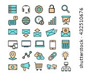 vector set of 30 flat business... | Shutterstock .eps vector #432510676