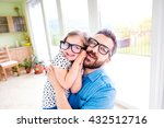 father with his little daughter ... | Shutterstock . vector #432512716