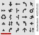 arrow icons set  vector...