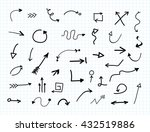 hand drawn arrows.set of black... | Shutterstock .eps vector #432519886