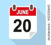 calendar date vector icon  flat ... | Shutterstock .eps vector #432520642