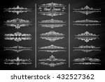 collection of vintage... | Shutterstock .eps vector #432527362