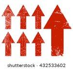 arrows. set of red grunge... | Shutterstock .eps vector #432533602