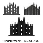 set of milan cathedral | Shutterstock .eps vector #432533758